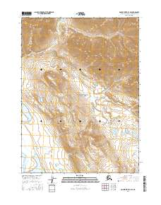 Topo map Ambler River D-1 SE Alaska