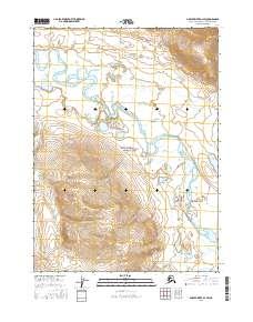 Topo map Ambler River D-1 SW Alaska