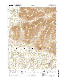 Topo map Ambler River D-2 NE Alaska