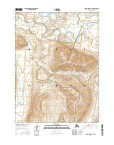 Topo map Ambler River D-2 SE Alaska