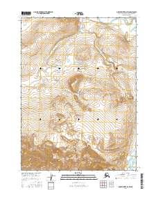 Topo map Ambler River D-2 SW Alaska