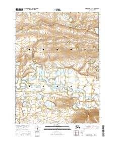 Topo map Ambler River D-3 NE Alaska