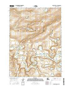 Topo map Ambler River D-3 NW Alaska