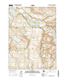 Topo map Ambler River D-4 NE Alaska