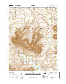 Topo map Ambler River D-4 SE Alaska