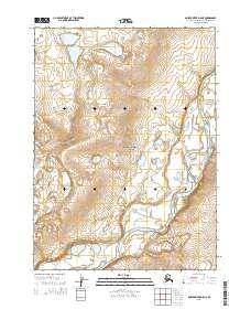 Topo map Ambler River D-5 NE Alaska