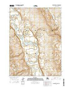 Topo map Ambler River D-5 NW Alaska