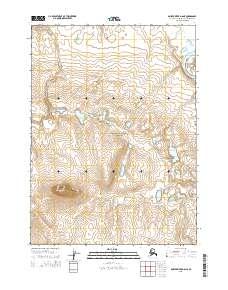 Topo map Ambler River D-6 NE Alaska