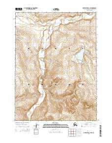 Topo map Ambler River D-6 NW Alaska