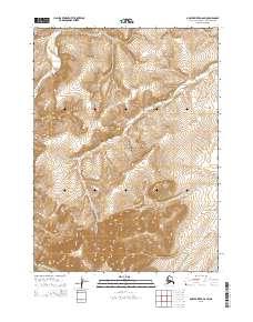 Topo map Ambler River D-6 SW Alaska