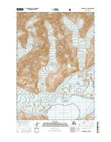Topo map Anchorage A-1 NE Alaska