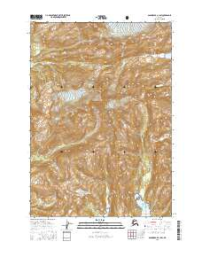 Topo map Anchorage A-1 SW Alaska