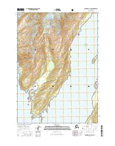 Topo map Anchorage A-3 SW Alaska