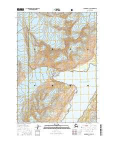 Topo map Anchorage A-4 SW Alaska
