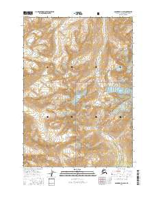 Topo map Anchorage A-6 SW Alaska