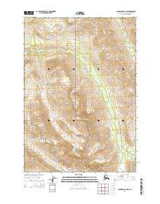 Topo map Anchorage A-7 NW Alaska