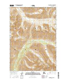 Topo map Anchorage A-7 SE Alaska