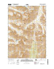 Topo map Anchorage A-7 SW Alaska