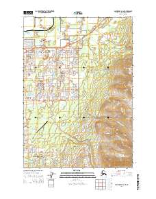 Topo map Anchorage A-8 NE Alaska