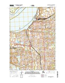 Topo map Anchorage A-8 NW Alaska