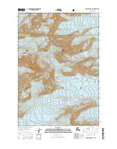 Topo map Anchorage B-1 NE Alaska