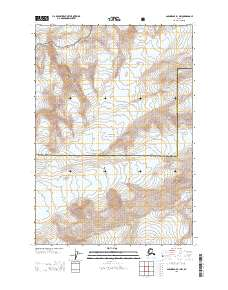 Topo map Anchorage B-1 NW Alaska