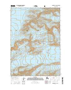 Topo map Anchorage B-1 SE Alaska