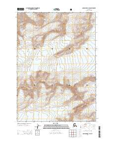 Topo map Anchorage B-1 SW Alaska