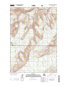 Topo map Anchorage B-2 NE Alaska