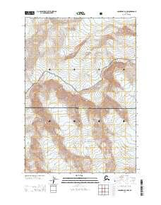 Topo map Anchorage B-2 NW Alaska