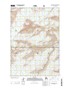 Topo map Anchorage B-3 NE Alaska