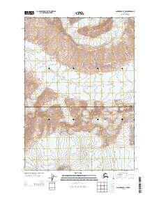 Topo map Anchorage B-3 NW Alaska