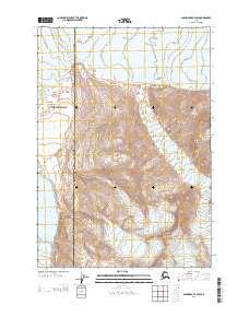 Topo map Anchorage B-4 SW Alaska