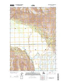 Topo map Anchorage B-5 NE Alaska