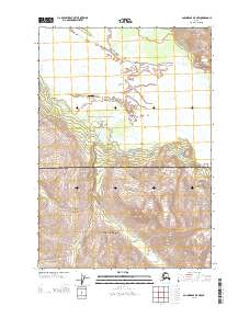 Topo map Anchorage B-5 NW Alaska