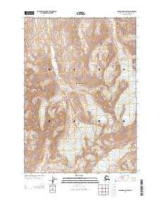 Topo map Anchorage B-5 SW Alaska