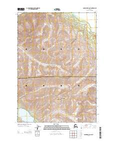 Topo map Anchorage B-6 NE Alaska