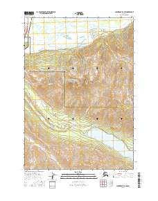 Topo map Anchorage B-6 NW Alaska