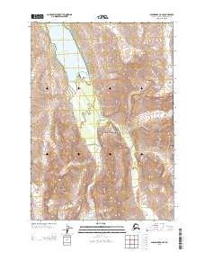 Topo map Anchorage B-6 SE Alaska
