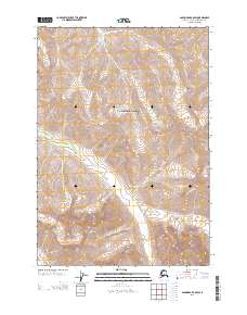 Topo map Anchorage B-6 SW Alaska