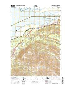 Topo map Anchorage B-7 NE Alaska