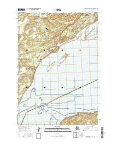 Topo map Anchorage B-8 NE Alaska