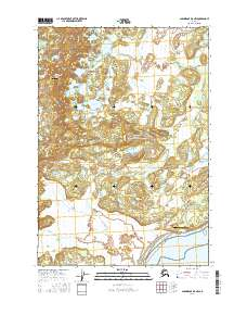 Topo map Anchorage B-8 NW Alaska