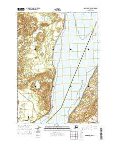 Topo map Anchorage B-8 SW Alaska
