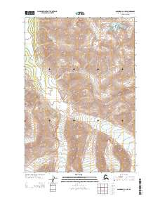 Topo map Anchorage C-1 NW Alaska