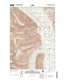 Topo map Anchorage C-2 NW Alaska