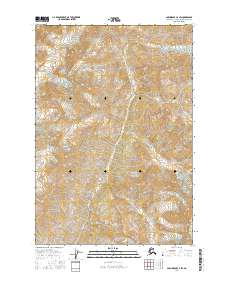 Topo map Anchorage C-4 SW Alaska