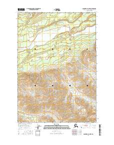 Topo map Anchorage C-5 NW Alaska