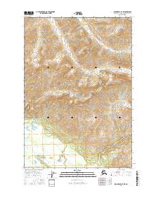 Topo map Anchorage C-5 SW Alaska