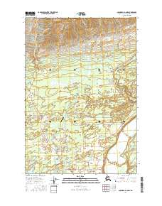 Topo map Anchorage C-6 NW Alaska